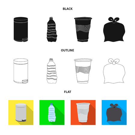 Isolated object of dump  and sort sign. Collection of dump  and junk vector icon for stock.