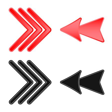 Objet isolé du symbole de l'élément et de la flèche. Collection d'éléments et de symboles boursiers de direction pour le web.