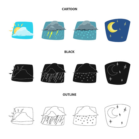 Isolated object of weather and climate sign. Collection of weather and cloud vector icon for stock.