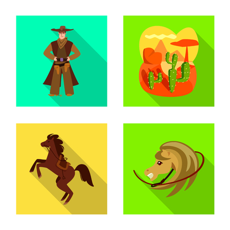 Vector illustration of texas and history sign. Set of texas and culture stock vector illustration.