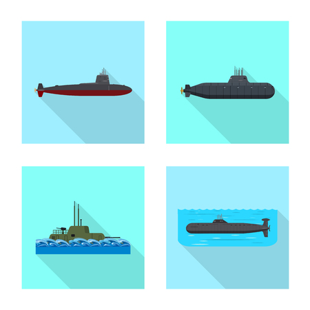 Vector design of military and nuclear symbol. Collection of military and ship vector icon for stock.