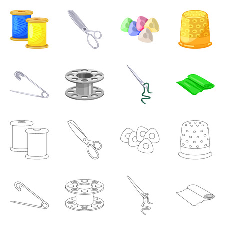 Isolated object of craft and handcraft icon. Set of craft and industry vector icon for stock. Иллюстрация