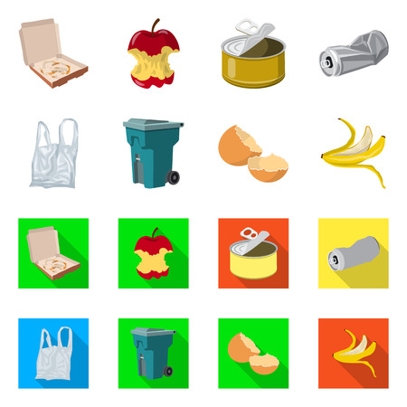 Vector illustration of dump and sort symbol. Collection of dump and junk vector icon for stock.