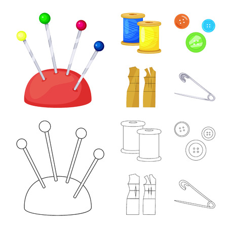 Isolated object of craft and handcraft icon. Set of craft and industry vector icon for stock. Illustration