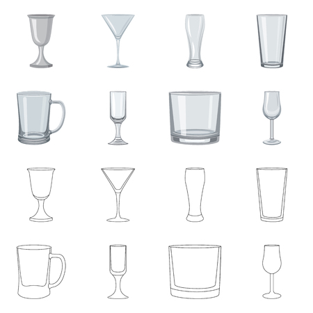 Vector illustration of form and celebration icon. Set of form and volume stock vector illustration.
