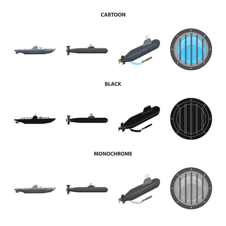 Vector illustration of war and ship symbol. Collection of war and fleet vector icon for stock.