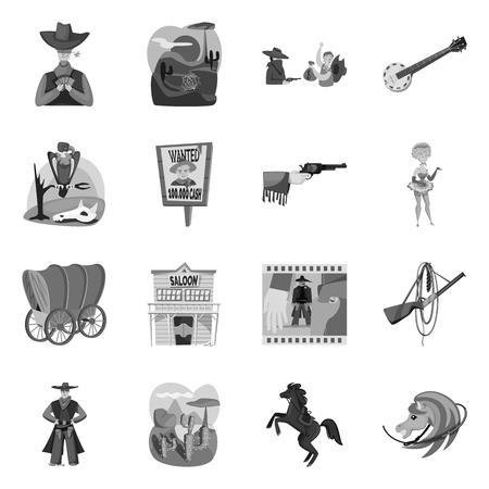 Vector design of ranch and farm icon. Set of ranch and history vector icon for stock. Vectores