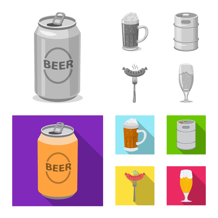 Vector design of pub and bar icon. Collection of pub and interior stock symbol for web.