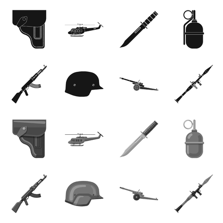 Isolated object of weapon and gun symbol. Collection of weapon and army stock symbol for web. Stock Vector - 120511026