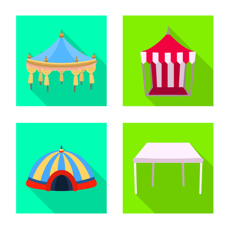 Vector illustration of awning and shelter logo. Collection of awning and canopy stock symbol for web. Illustration