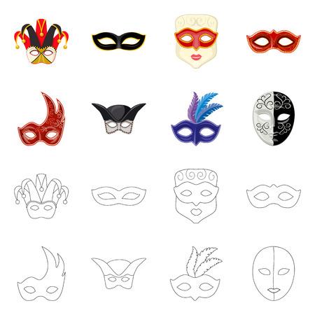 Vector design of luxury and celebration icon. Set of luxury and hide stock vector illustration. Vektorgrafik