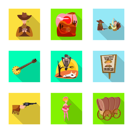 Diseño vectorial de texas e historia signo. Colección de texas y cultura vector icono de stock.