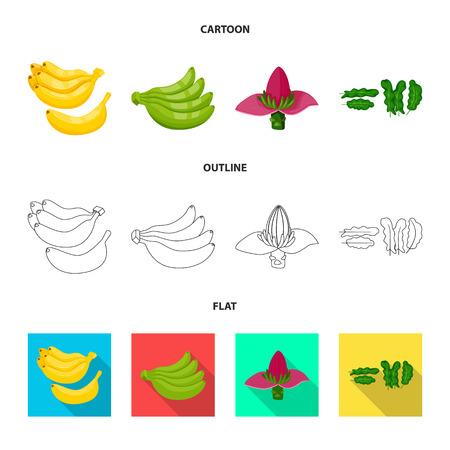Vector design of natural and vegetarian symbol. Set of natural and eating stock vector illustration.
