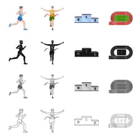 Vector illustration of sport  and winner logo. Set of sport  and fitness  stock vector illustration.