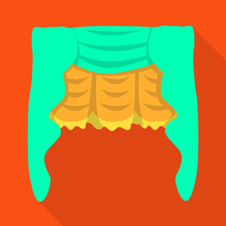 Vector illustration of curtain and window symbol. Collection of curtain and textile stock symbol for web.