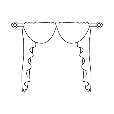 Vector design of lambrequin and hall symbol. Set of lambrequin and cosiness vector icon for stock.