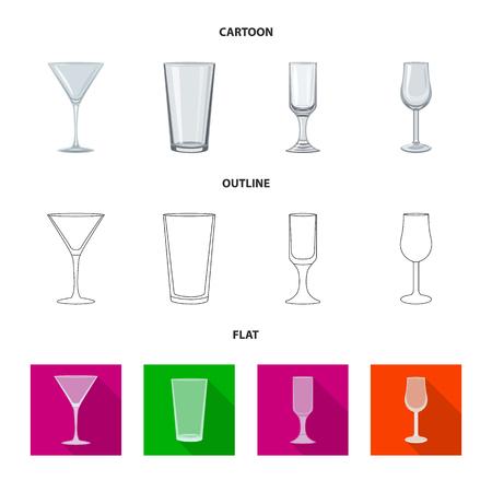 Vector design of form and celebration symbol. Set of form and volume stock symbol for web. Ilustração