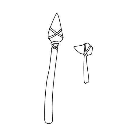 Isolated object of prehistoric and arrow sign. Set of prehistoric and spear vector icon for stock.