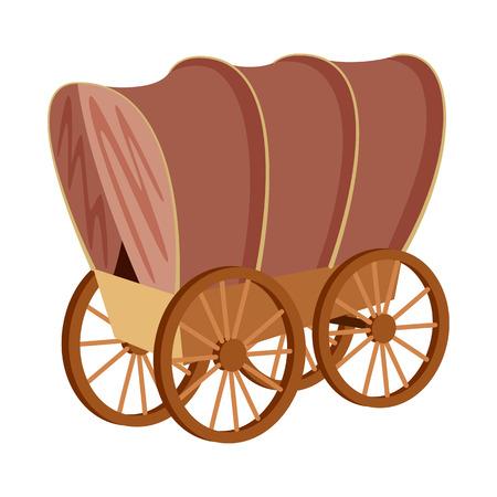 Conception de vecteur d'icône de diligence et de wagon. Ensemble de diligence et balade illustration vectorielle stock. Vecteurs