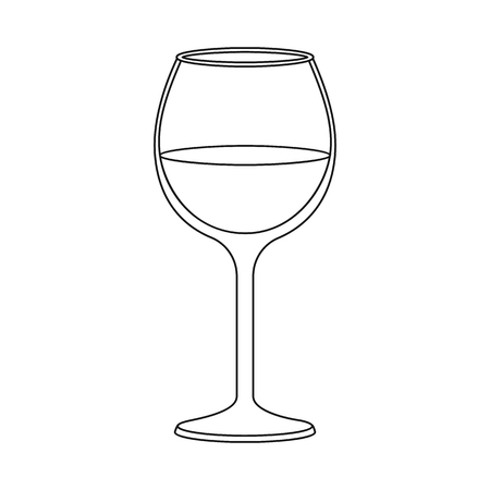 Isolated object of wine and red symbol. Collection of wine and wineglass stock vector illustration.