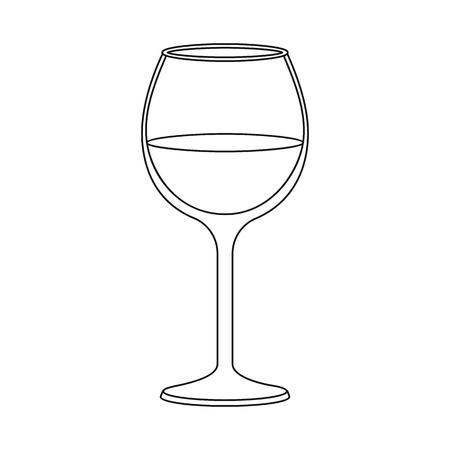 Objet isolé de vin et symbole rouge. Collection d'illustration vectorielle stock vin et verre à vin. Vecteurs