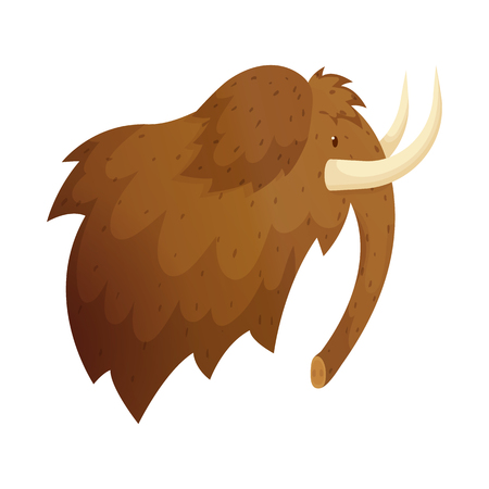 Vector illustration of mammoth and wooly sign. Set of mammoth and hunt stock vector illustration.
