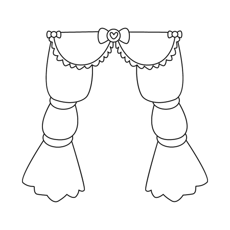 Isolated object of curtain and apartment symbol. Collection of curtain and jalousie vector icon for stock. Illusztráció