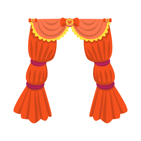Isolated object of curtain and apartment sign. Set of curtain and jalousie vector icon for stock.