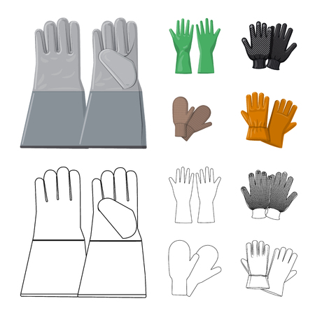 Vector illustration of glove and winter symbol. Collection of glove and equipment vector icon for stock. Vettoriali