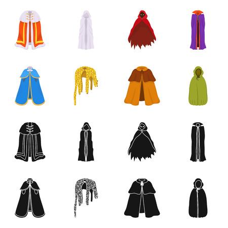 Izolowany obiekt znaku materiału i odzieży. Kolekcja ikona wektor materiału i odzieży na magazynie.