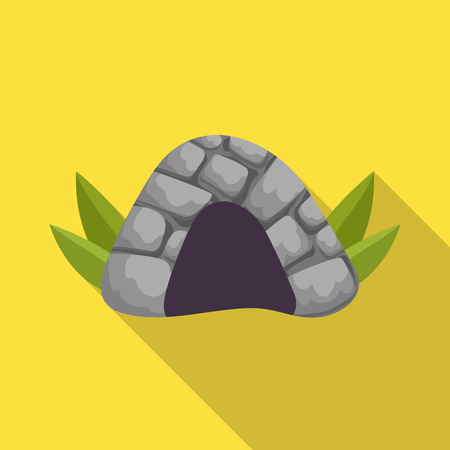 Isolated object of cave and prehistoric logo. Set of cave and rock vector icon for stock.