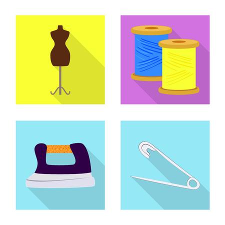 Illustration vectorielle du signe de l'artisanat et de l'artisanat. Ensemble d'icônes vectorielles artisanales et industrielles pour le stock.