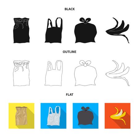 Vector illustration of dump  and sort symbol. Set of dump  and junk stock vector illustration. Illustration