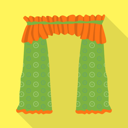 Vector illustration of drapes and cornice icon. Collection of drapes and cosiness vector icon for stock.