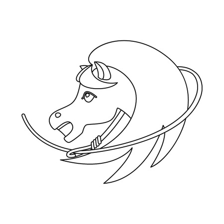 Vector design of horse and race icon. Set of horse and animal stock symbol for web. Illustration