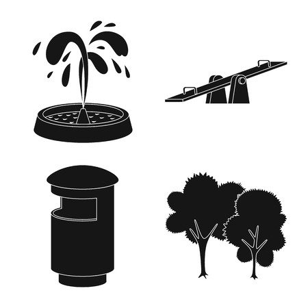 Isolated object of public and relaxation logo. Set of public and park vector icon for stock.