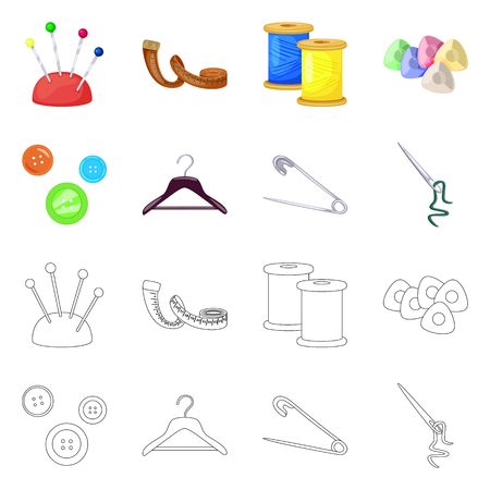 Vector illustration of craft and handcraft symbol. Set of craft and industry stock vector illustration.