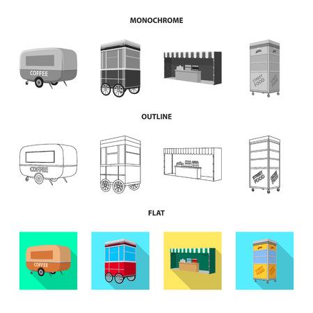 Vector design of marketing and tent symbol. Collection of marketing and outdoor vector icon for stock. 矢量图像