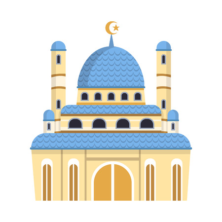 Isolated object of mosque and church sign. Collection of mosque and muslim vector icon for stock. Archivio Fotografico - 120814397
