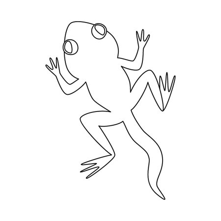 Isolated object of toad and green icon. Set of toad and toxic vector icon for stock.