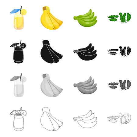 Isolated object of natural and vegetarian symbol. Collection of natural and eating stock symbol for web.