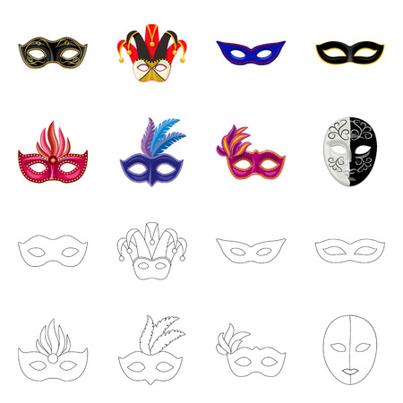 Vector design of luxury and celebration sign. Collection of luxury and hide vector icon for stock. Vektorgrafik