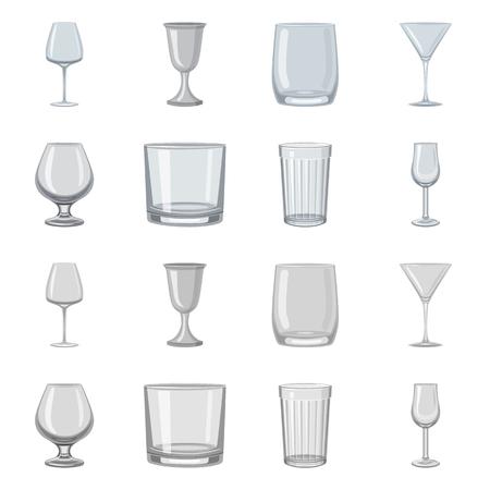 Vector illustration of form and celebration symbol. Set of form and volume stock vector illustration.