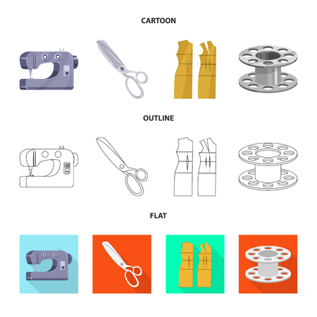 Vector illustration of craft and handcraft symbol. Set of craft and industry stock symbol for web.