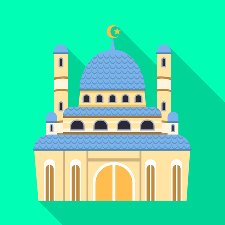 Isolated object of mosque and church symbol. Set of mosque and muslim stock symbol for web. Archivio Fotografico - 120895043