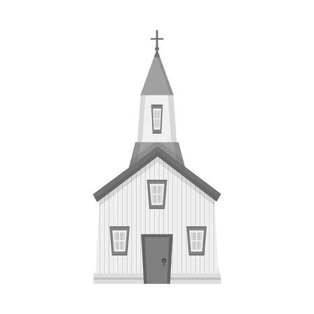 Isolated object of church and catholic icon. Collection of church and prayer stock vector illustration. Illustration