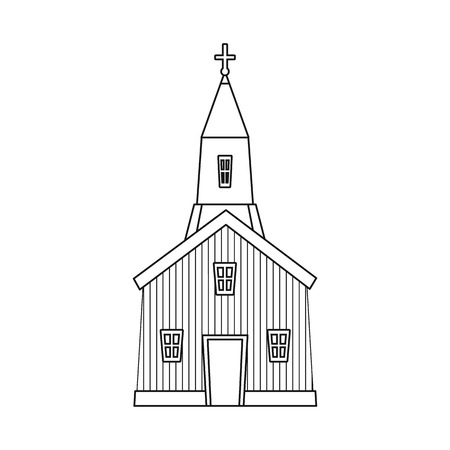 Vector illustration of church and catholic symbol. Collection of church and prayer vector icon for stock.