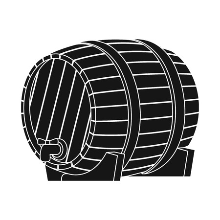 Isolated object of wine and barrel symbol. Collection of wine and beer vector icon for stock.