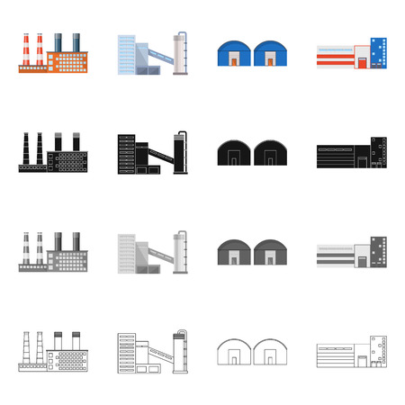 Vector illustration of production and structure logo. Collection of production and technology stock symbol for web. Illustration