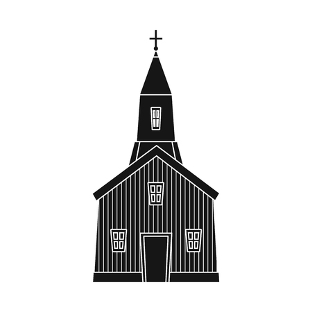 Vector design of church and catholic logo. Collection of church and prayer stock vector illustration.